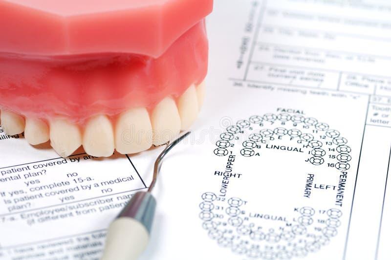 Modulo dentale fotografia stock