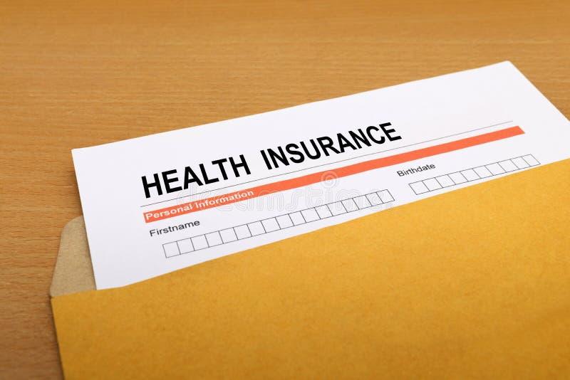 Modulo di domanda dell'assicurazione malattia immagine stock