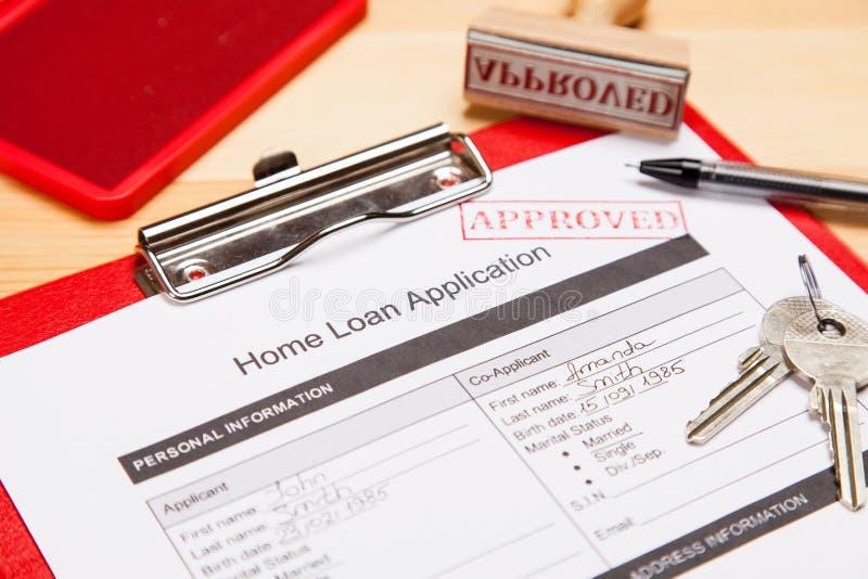 Modulo di domanda di prestito immobiliare immagine stock libera da diritti
