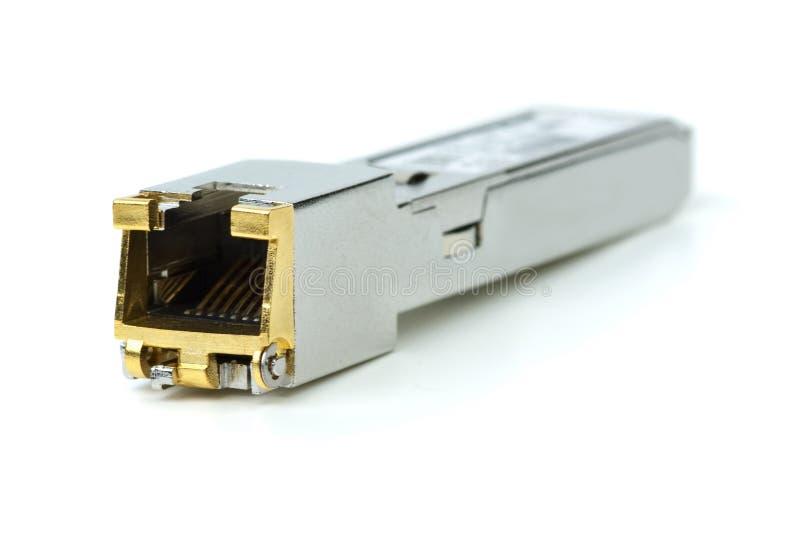 Modulo (di rame) dello sfp di gigabit fotografia stock libera da diritti