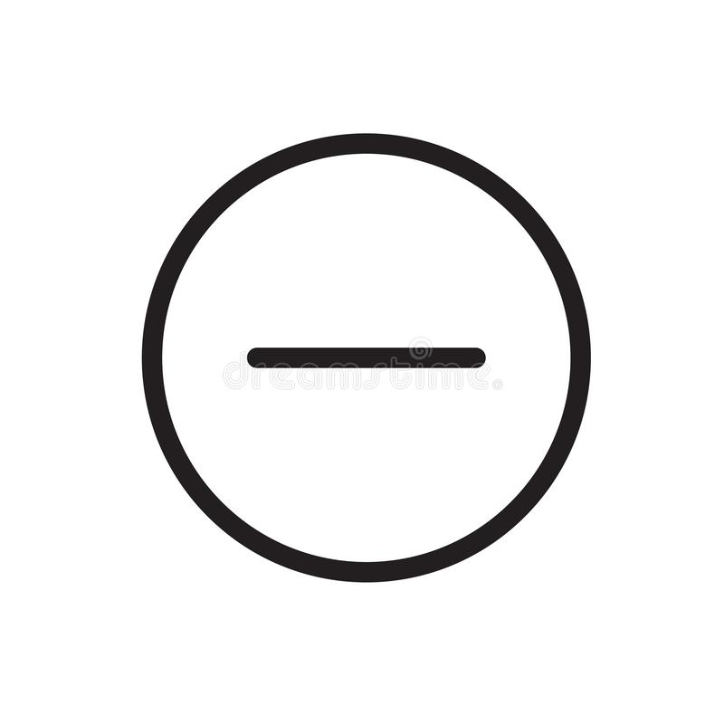 Modus- ohne Ausgabeikone Verbot verboten Vektordesignillustration lizenzfreie abbildung
