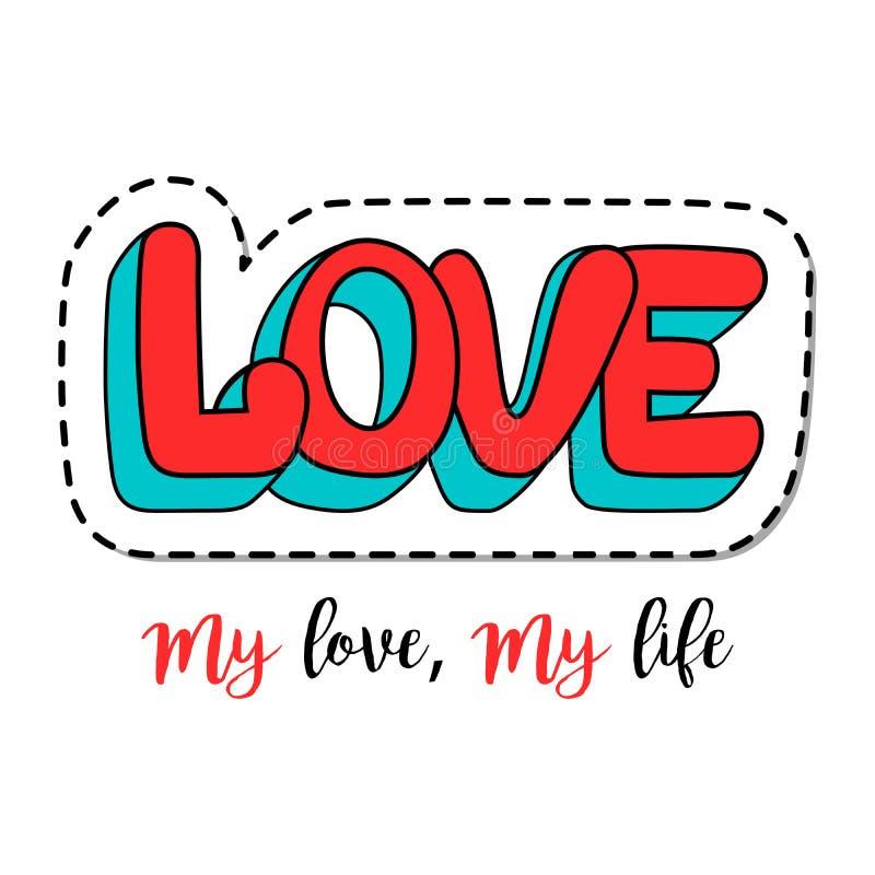 Mody łaty element z miłości pisać list ilustracji
