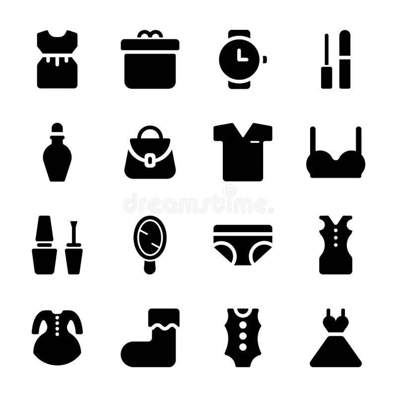 Mody akcesorium ikony ustawia? ilustracji