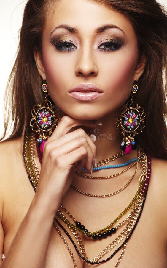 mody biżuterii kobieta zdjęcie royalty free