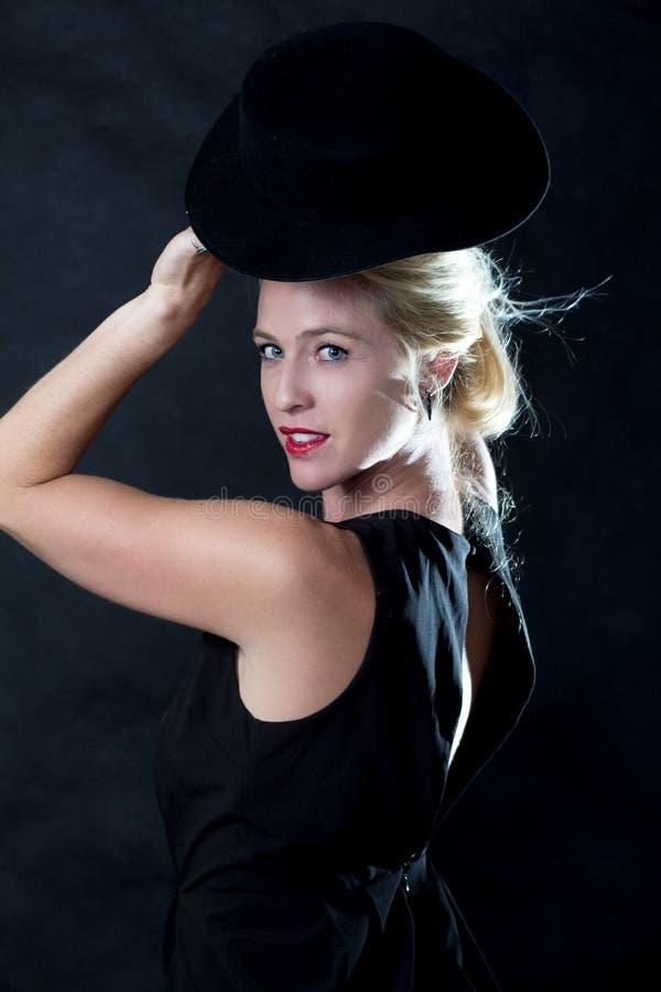 Mody blond kobieta zdjęcie stock