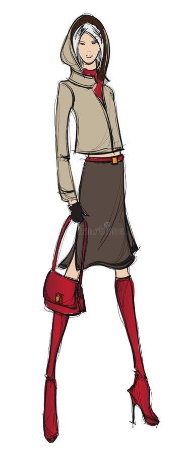 Mody dziewczyna. ilustracji