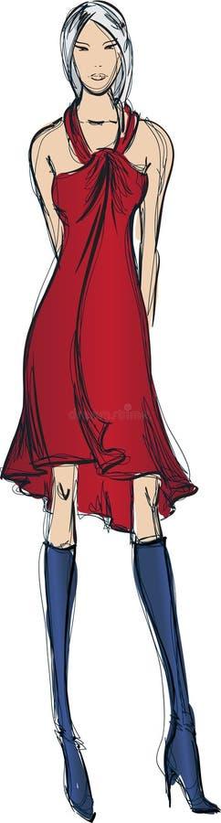 Mody dziewczyna. royalty ilustracja