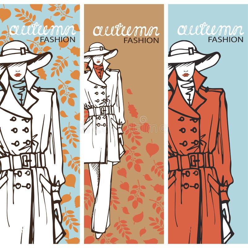 Mody dziewczyna w nakreślenie stylu również zwrócić corel ilustracji wektora grafit ilustracji