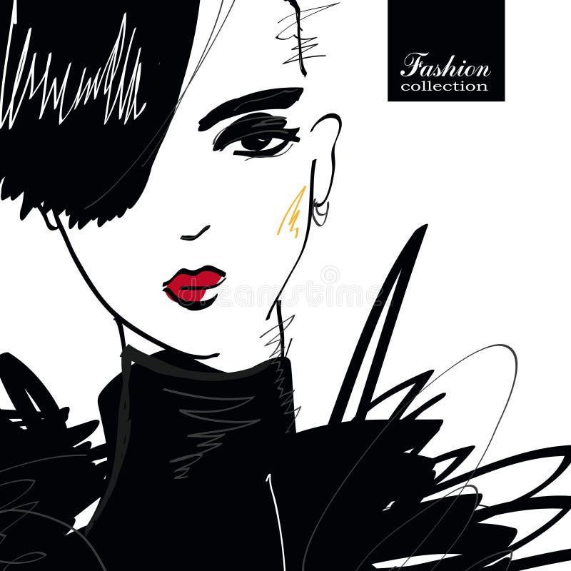 Download Mody dziewczyna w stylu ilustracja wektor. Ilustracja złożonej z odosobniony - 65225316