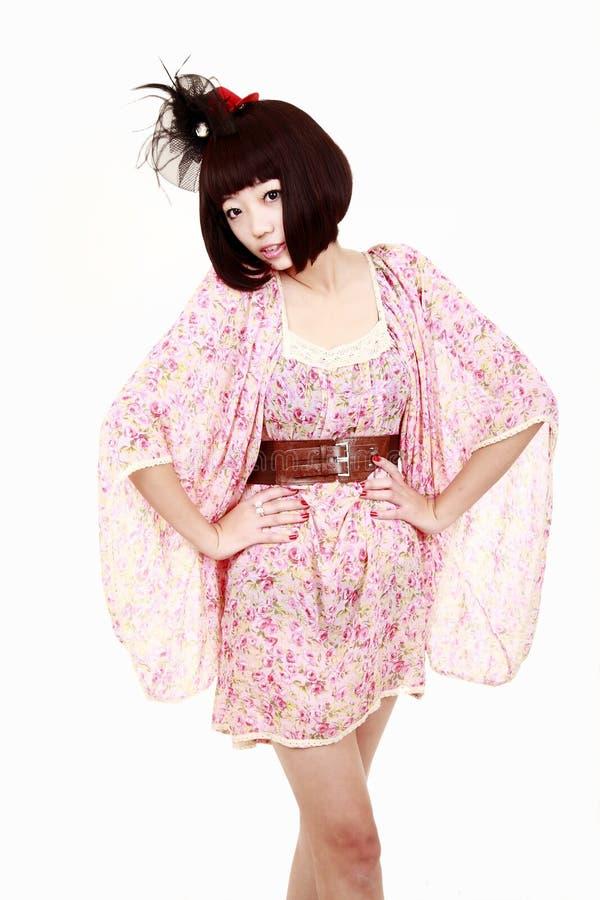 Mody Dziewczyny Fryzura ładna Zdjęcia Stock