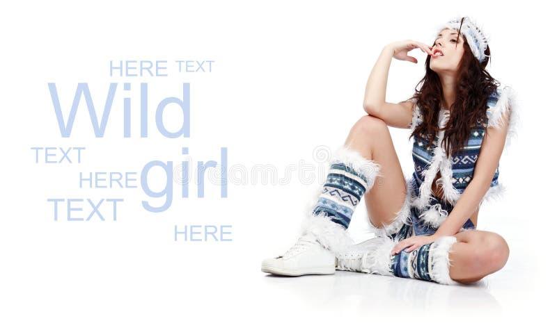 mody dziewczyny zima zdjęcie stock