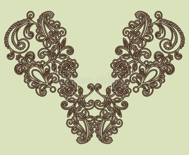 mody hafciarski neckline ilustracja wektor