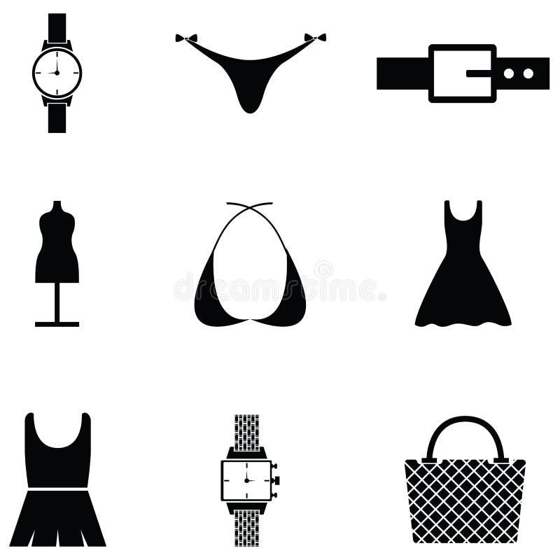 Mody ikony set ilustracja wektor