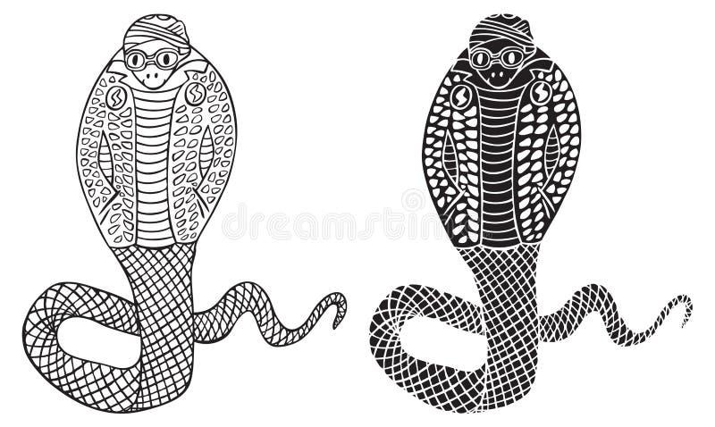 Mody ilustracja kobra wąż ilustracji