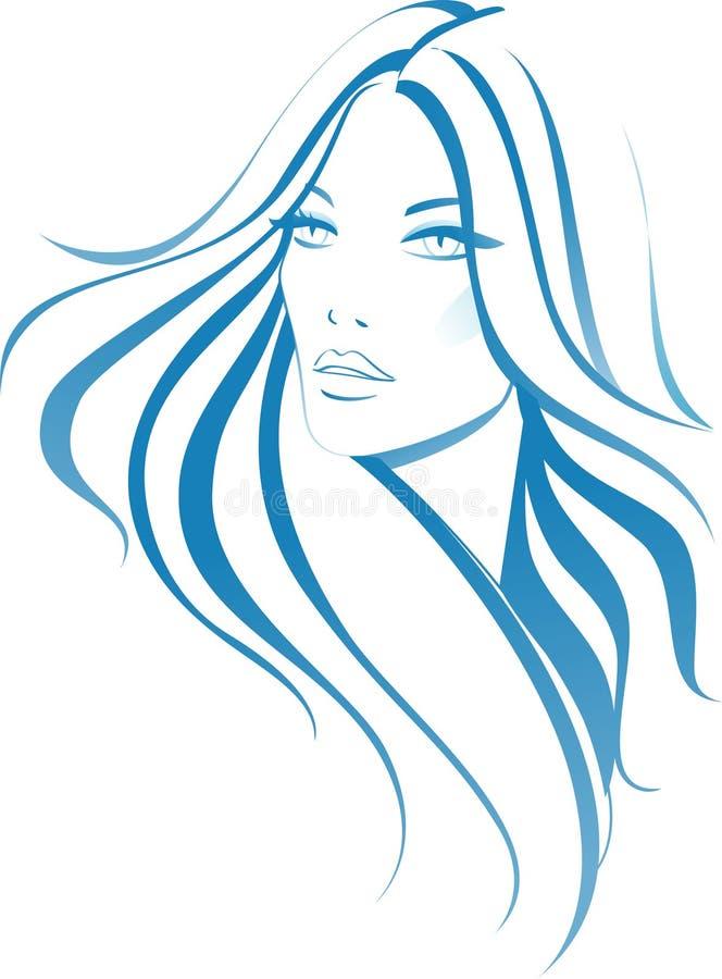 mody kobieta royalty ilustracja