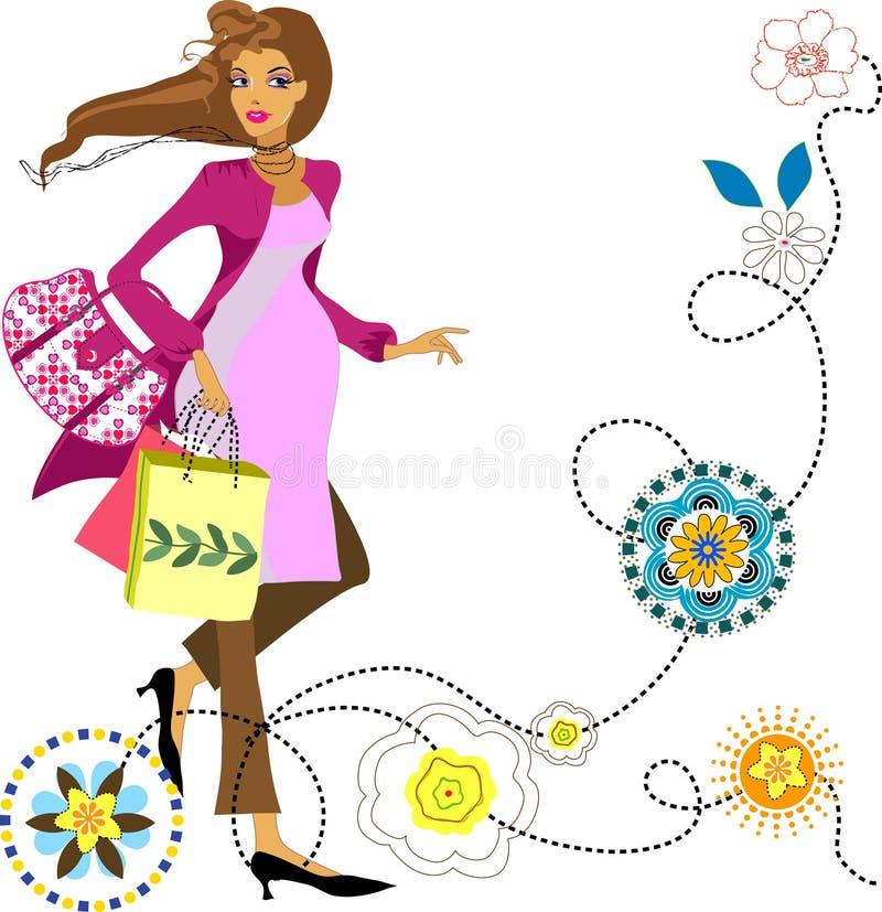 mody kobieta w ciąży ilustracji