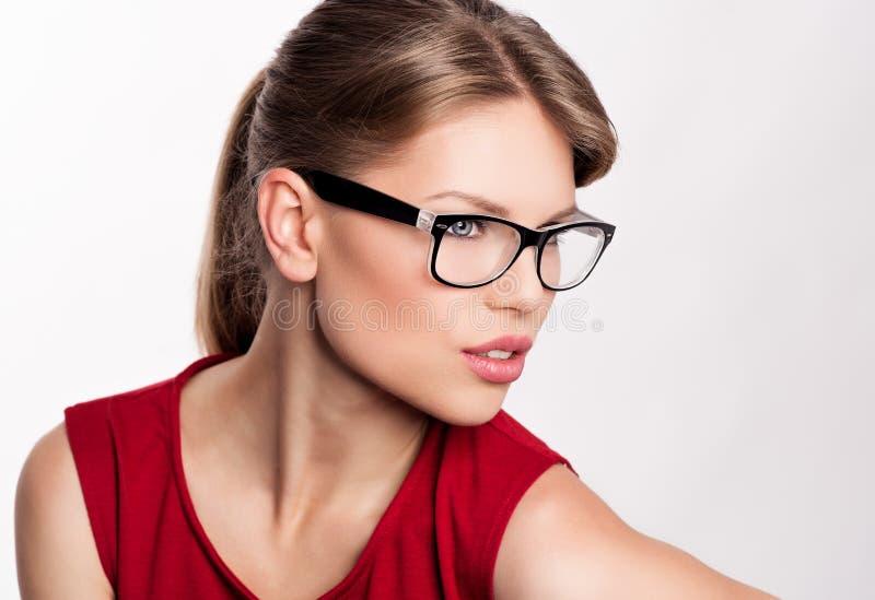 Mody kobieta w eyeglasses obraz stock