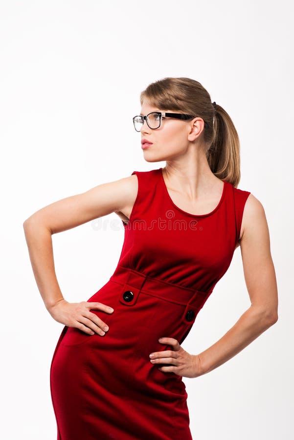 Mody kobieta w eyeglasses obrazy royalty free