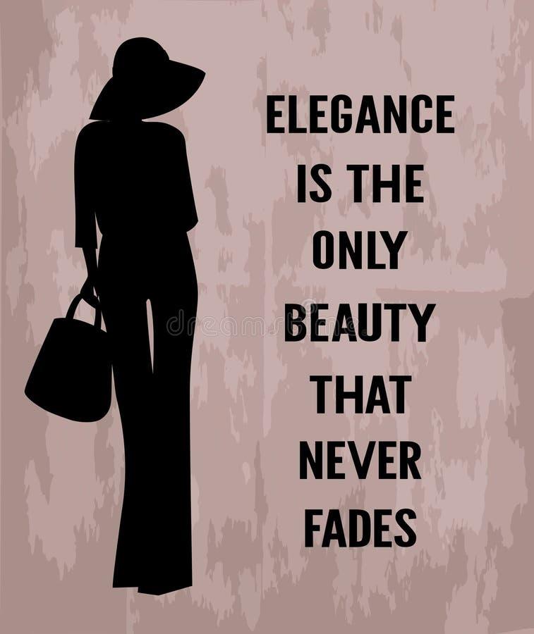 Mody kobieta z wycena o eleganci ilustracja wektor