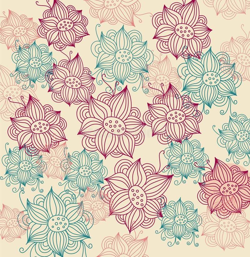 Mody kwiecisty tło ilustracji