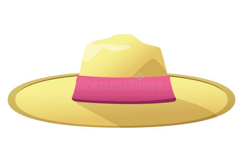 Mody lata kapelusz dla kobiet ilustracji