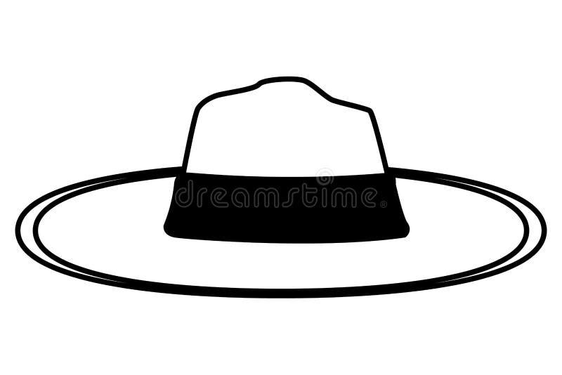 Mody lata kapelusz dla kobiet w czarny i biały royalty ilustracja