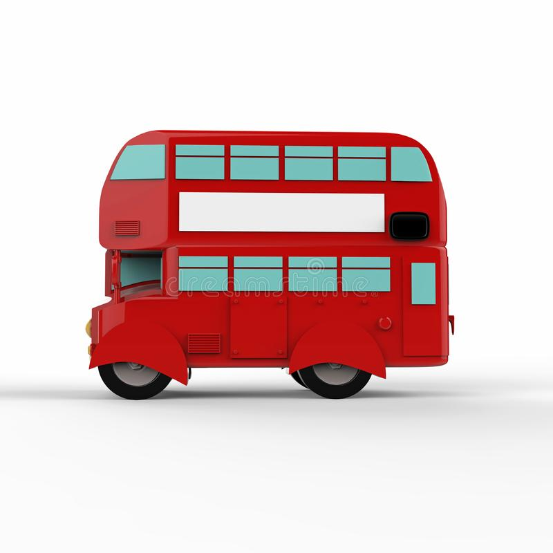 Mody London doubledecker czerwieni autobus 3 d czynią ilustracja wektor