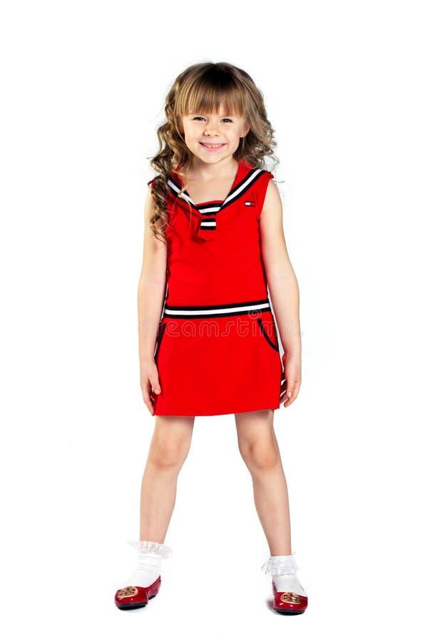 Mody mała dziewczynka obrazy royalty free