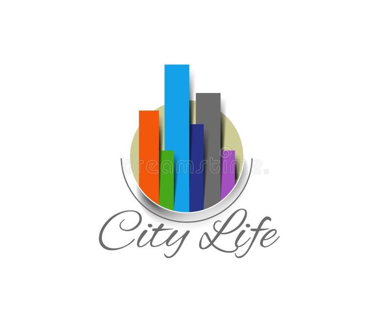 Mody miasta życia logo ilustracja wektor