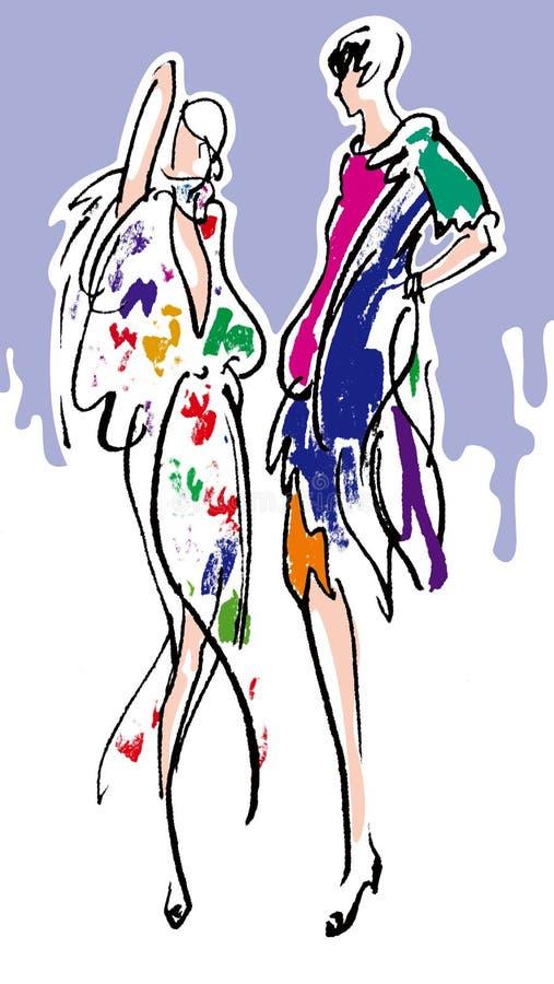 mody modela kobieta ilustracja wektor