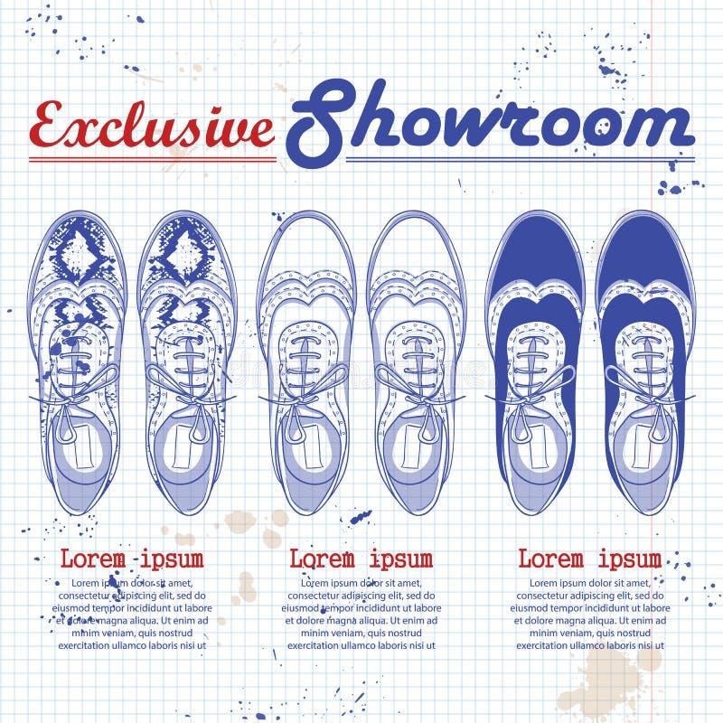 Mody nakreślenia kobiet wektorowi buty ilustracji