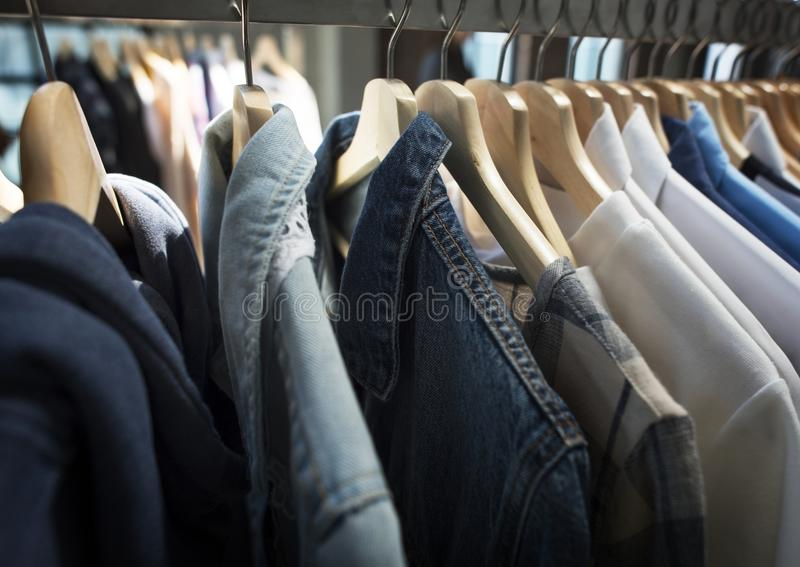 Mody odzieży sklepu handel detaliczny formalny zdjęcia royalty free