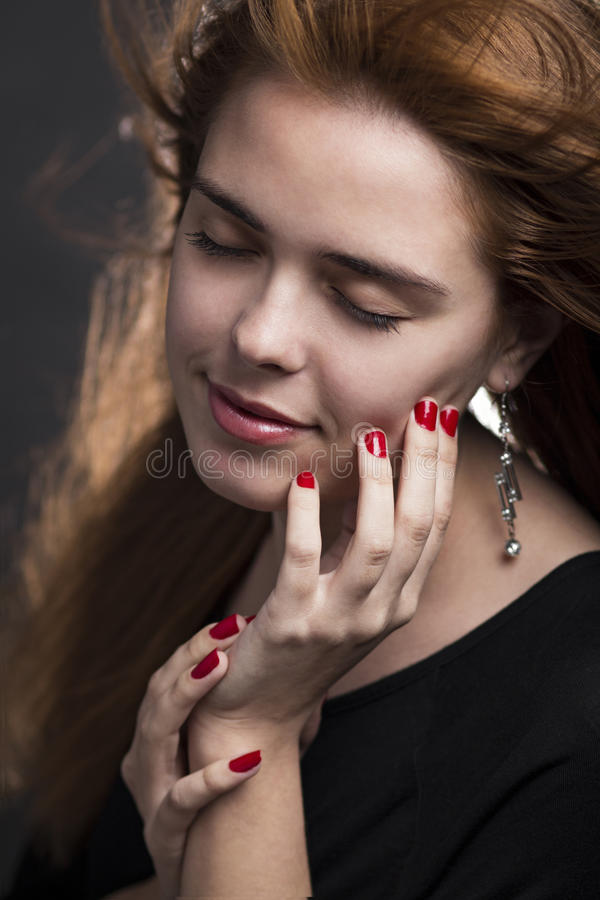 mody portreta kobiety potomstwa obrazy royalty free