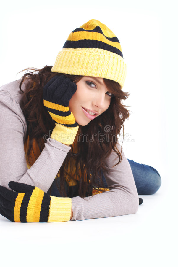 mody portreta seksowna zima kobieta fotografia stock