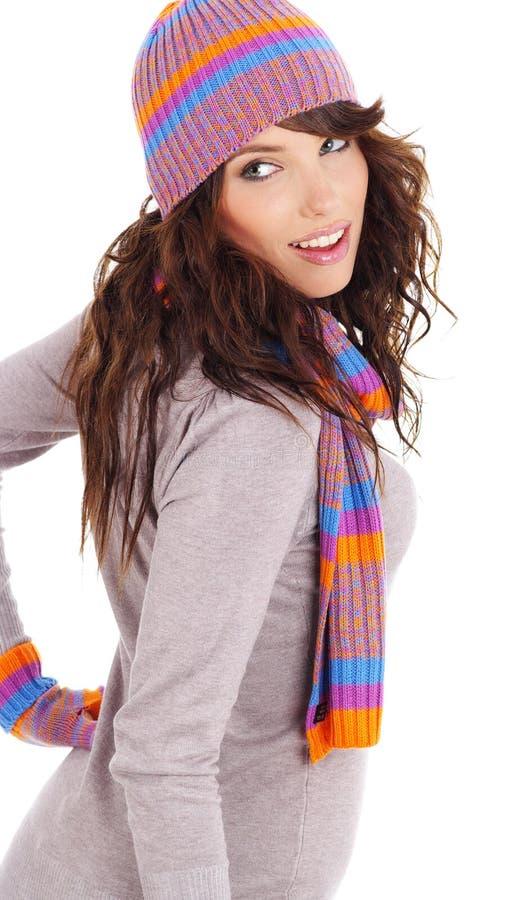 mody portreta seksowna zima kobieta obrazy stock