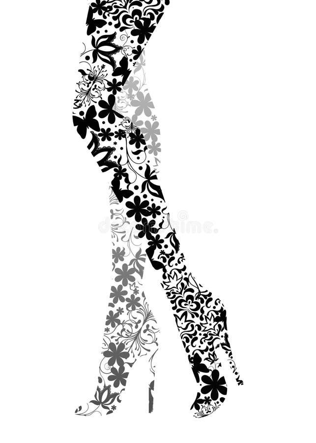 mody splendoru nogi zdjęcia stock