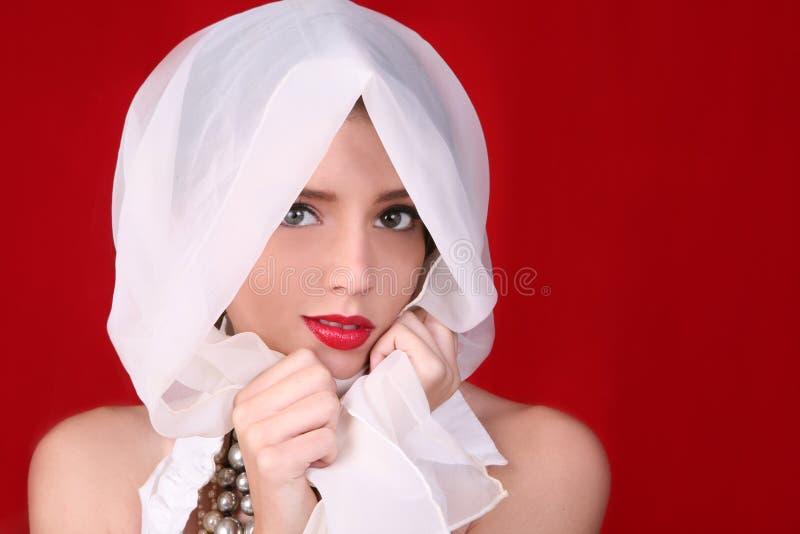 mody tła wysokości czerwony modelu obrazy stock