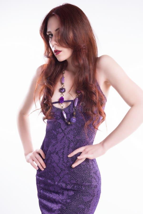 mody włosy modela czerwień obrazy royalty free