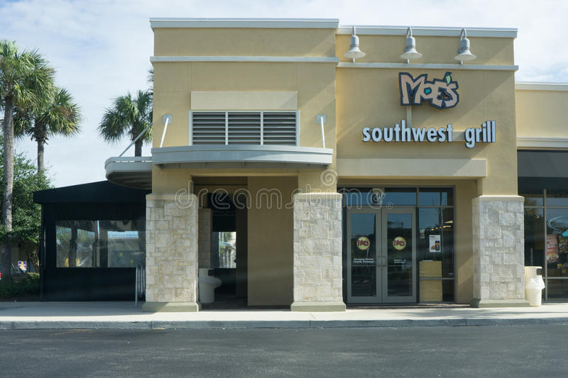 Moe's Southwest Grill. JACKSONVILLE, FLORIDA - AUGUST 2, 2015: A Moe's Southwest Grill fast casual restaurant in Jacksonville. There are currently over 600 Moe's royalty free stock photography