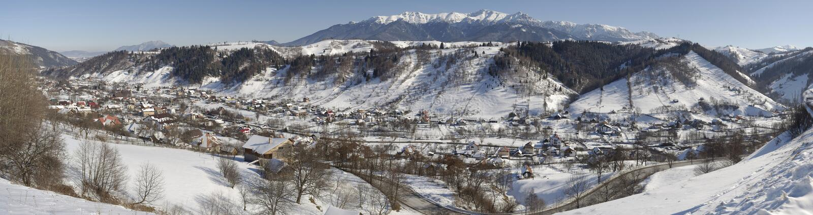 Download Moeciu town stock photo. Image of mountains, winter, forest - 12913104