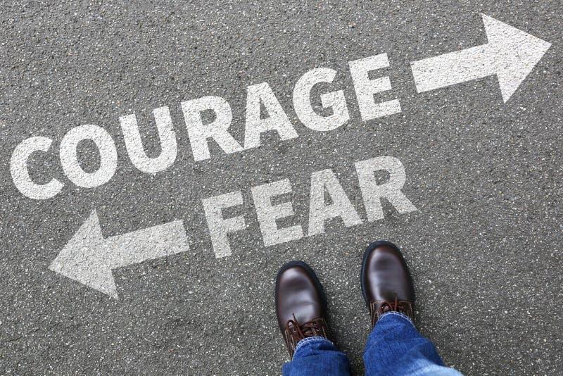 Moed en de veiligheids toekomstige sterkte sterke van het bedrijfs vreesrisico mens stock afbeeldingen