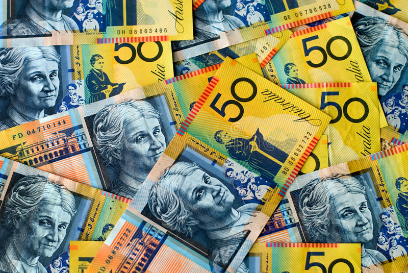 Moeda australiana imagens de stock royalty free