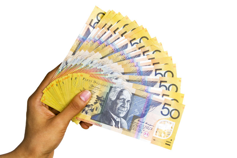 Moeda australiana. fotos de stock royalty free