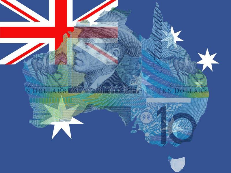 Moeda australiana ilustração stock