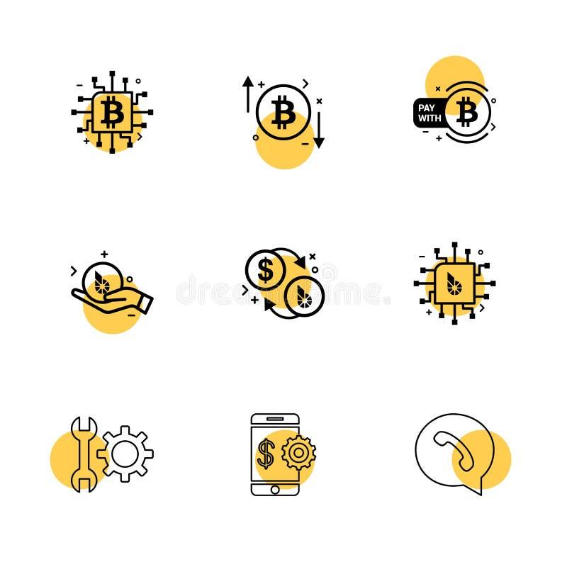 moeda cripto, moeda do bocado, CI, dinheiro, whatsapp, móbil, wre ilustração royalty free