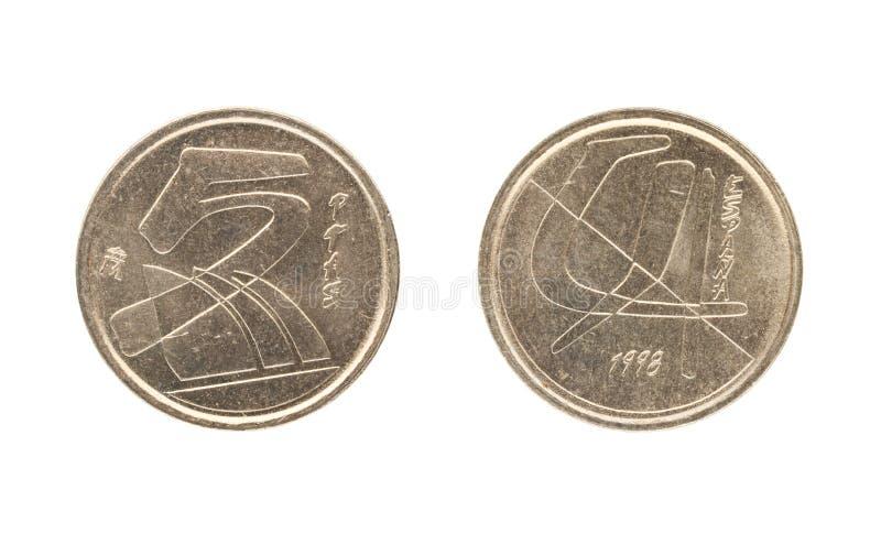 Moeda da Espanha, o valor nominal da peseta 5 imagem de stock