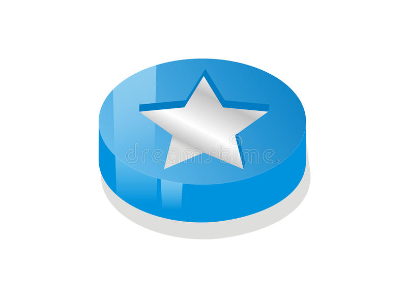 Moeda da estrela azul ilustração royalty free