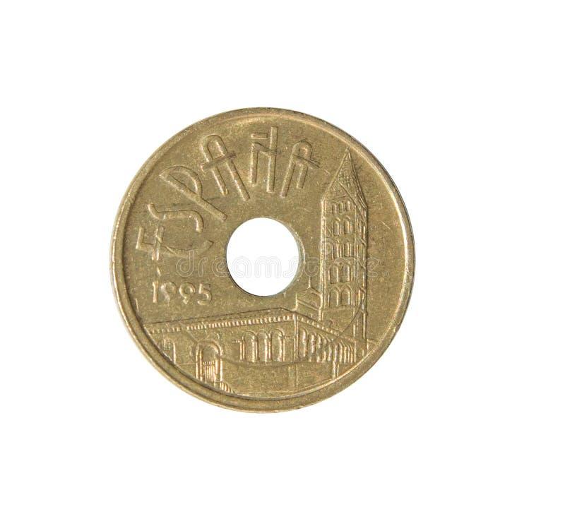 Moeda da peseta espanhola imagens de stock