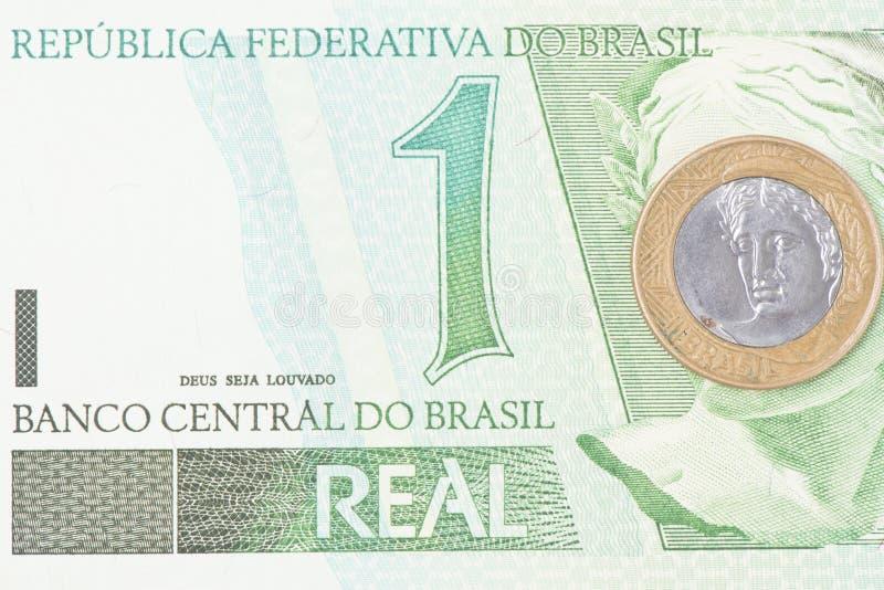 Moeda de BRL do brasileiro 1 imagem de stock