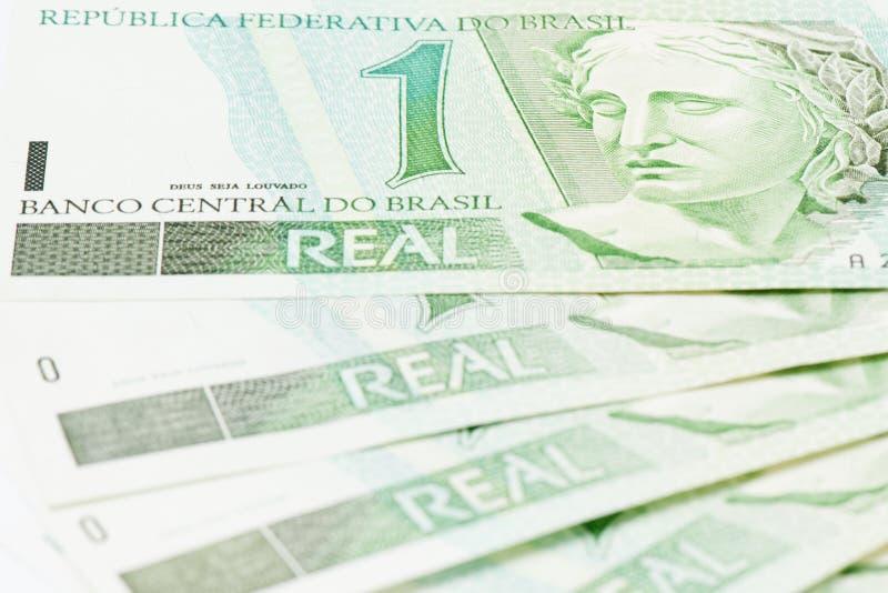 Moeda de BRL do brasileiro 1 foto de stock royalty free